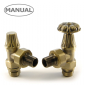 Abbey Manual Old English Brass Radiator Valve